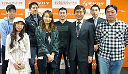 NTT社と角川グループが立ち上げた「ファン+(ファンプラス)」でスタートした研究プロジェクトにデジタルハリウッドの学生が参加