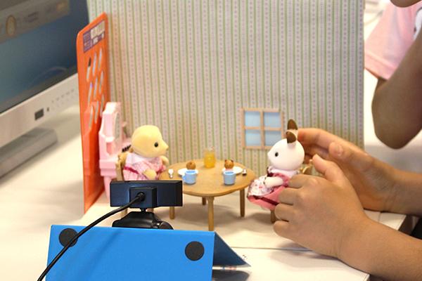 親子向けワークショップ ストップモーション講座 シルバニアファミリーのアニメーションを作ろう!!の写真2